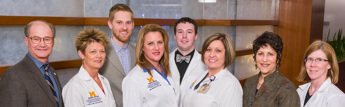 Head shots of doctors, nurses and staff of the University of Michigan Executive Health Program