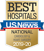 Cardiology and Heart Surgery Specialty badge - Best Hospitals - US News & World Report Cardiology & Heart Surgery 2019-2020
