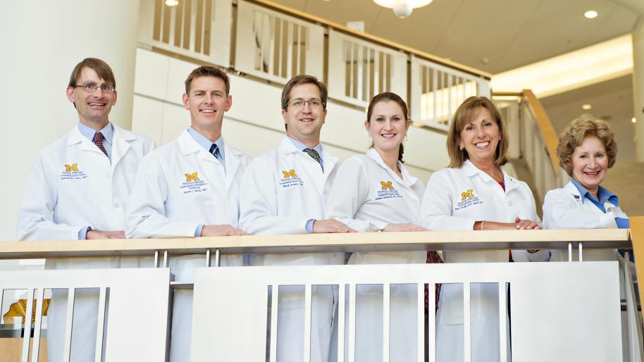 U-M Frankel Cardiovascular Center Adult Congenital Heart team of 6 health professionals