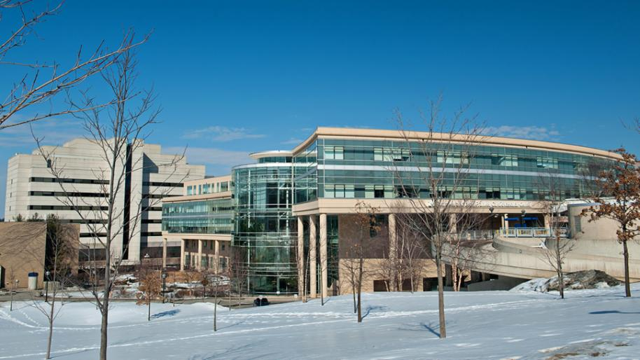 University of Michigan Frankel Cardiovascular Center in winter