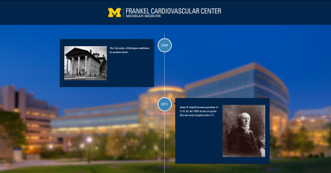 Screenshot of Frankel Cardiovascular Center Web Timeline