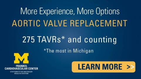 More experience in Aortic Valve Replacement, most TAVRs performed in Michigan