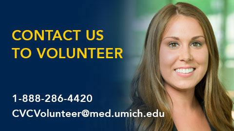 Contact us to volunteer for a Frankel Cardiovascular Research Study at 1-888-286-4420
