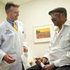 Dr. Scott Hummel with patient