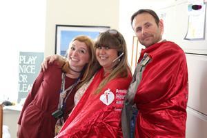 Frankel CVC staff wearing Heart Walk capes