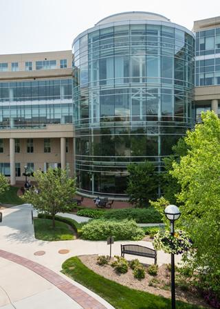 UM Frankel Cardiovascular Center outside view of Atrium