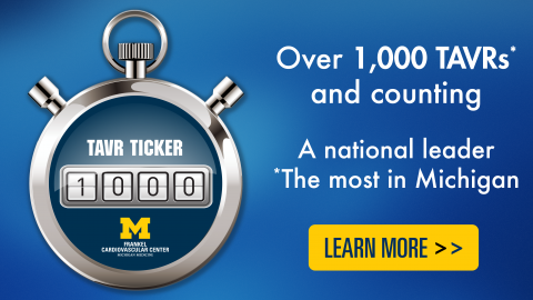 Over 1,000 TAVRs and counting - a national leader, the most in Michigan - click to be taken to TAVR page