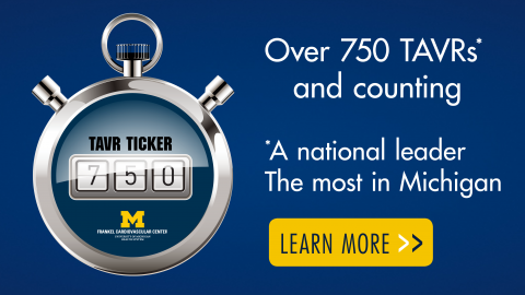 TAVR counter showing the numeral 750 - Click to go to TAVR FAQ page