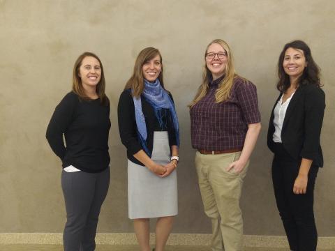 Spiritual Care Residents: Kelsey Lewis, Deborah Metcalf, Michelle Jendry and Alyssa Muehmel