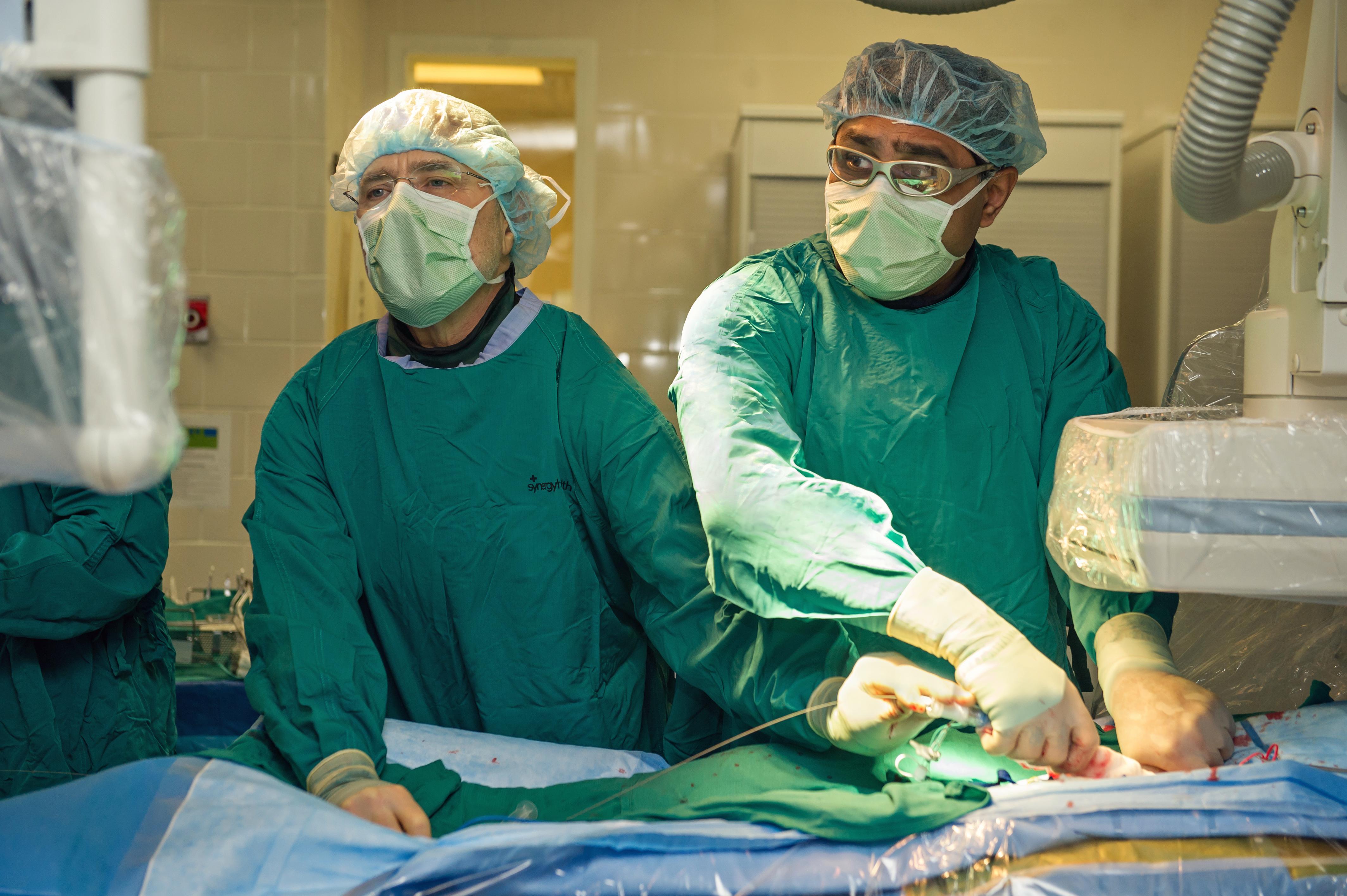 Dr. Himanshu Patel (right)