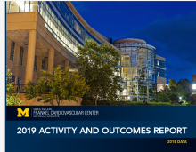 Cover for 2019 Activity and Outcomes Report