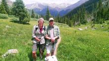 U-M aortic dissection patient Alan Wasserman and wife Donna